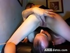 Real Cuckold Creampie Eating...