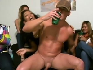 Asian babe fingered by stripper at party