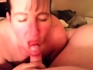 Drunk mature gives pov blowjob