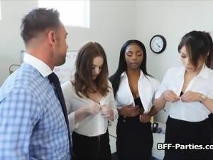 CEO blown by three secretaries