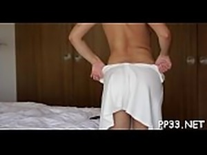 Arousing babe&#039_s excitement with massage before hot drilling