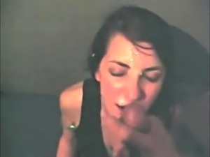 Latin Teen Blowjob POV with Cumshot On Her Chin
