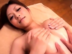 Delightful Asian babe gets her honey hole sensually massaged