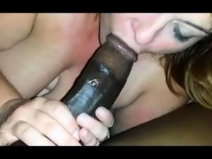 Tan stud gives a POV blowjob to his big cock