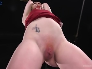 Groaning pale nympho with small tits Katy Kiss gets fingered and masturbated...
