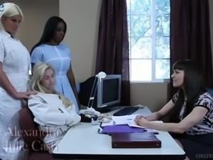 horny private nurse Claire Robbins is so into eating wet pussy