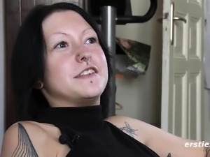 All Tattooed and Nose Ring, Ready to Cum