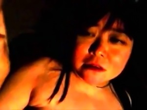 Fat Oriental lady getting her tight snatch fingered in POV
