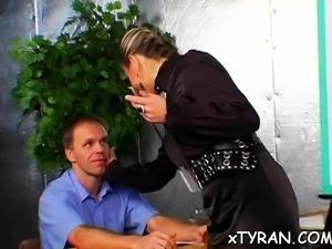 Sexy hottie dominates her slave in sexy femdom fetish action