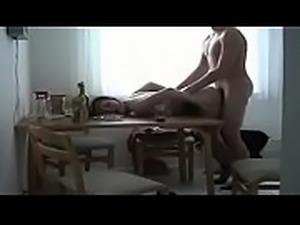 Hot amateur couple making love