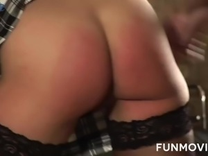 Watch a real Slut In The Box who gets mouthfucked damn hard