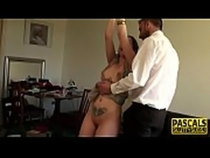 Whipped submissive fucked