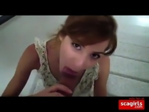 blowjob and facial for french girl