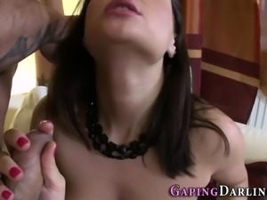 Analized whore tugs cock
