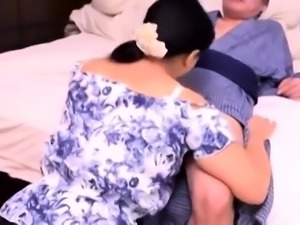 Busty Japanese housewife gets her peach licked and drilled