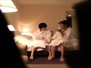Cheating Japanese wife has sex with her lover on hidden cam