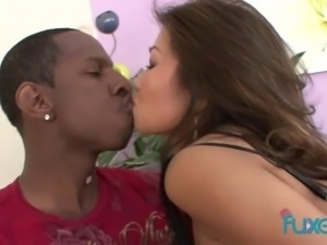 Asian hottie goes interracial as she has been dreaming about riding BBC