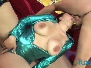 Just ordinary giant breasted MILFie whore who thirsts for hard anal