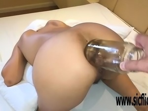 Double anal fisting amateur slut Maria