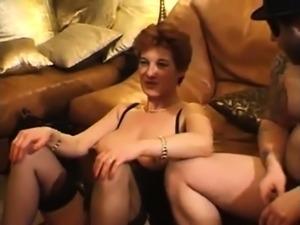 Mature blowjob gangbang scene