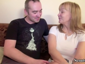 German old Hairy Couple in First Time Porn Movie
