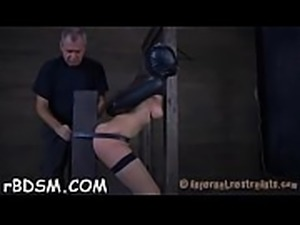 Bounded angel receives hardcore satisfying on her clits