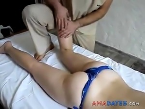 ENF - Super shy by receiving a massage topless