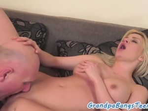 Orally pleasured eurobabe gets drilled