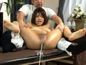 Milk enema fetish dyke anal squirting outdoors in the sun