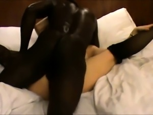 Bodacious milf in stockings is addicted to interracial sex