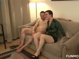 Ordinary real amateur whore works quite well on stiff boner cock