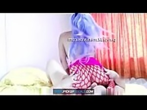 Pervert teen does a beautiful kitty cosplay with anal plug, gets pounded in...