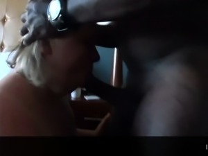 Mature blonde wife indulges in interracial cuckold fucking