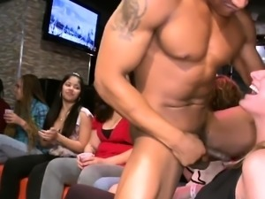My gilfriend eats stripper dick at party
