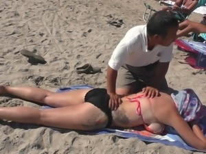 Side Boob Beach Massage