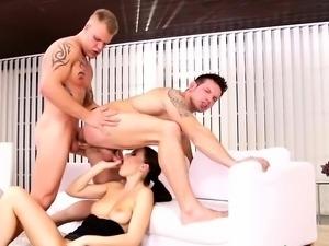 Hot bi threesome porn