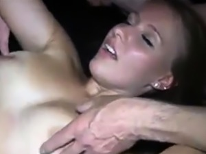 amateur blonde hot-wife getting gang-banged by friends