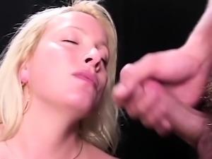 Blonde amateur hardcore homemade amateur facial cumshot