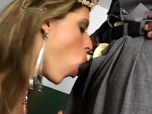Blonde MILF loves interracial hardcore banging