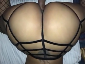 Big Ass GF In Fishnets  Pounded Doggy