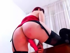 Skinny Redhead With Glasses amp Stockings Toys Play