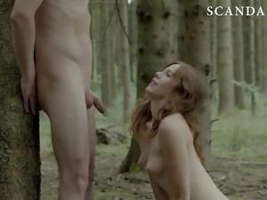 Antje Monning Blowjob & Cumshot Scene on ScandalPlanet.Com