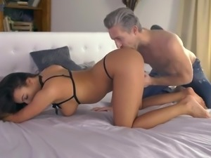 Vanessa Decker is a wild nympho who goes nuts while riding her stud on top