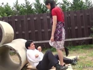 Wonderful Japanese Femdom Goes Really Hardcore Outdoors