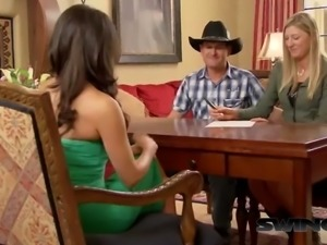 Cowboy swingers arrive to fulfill their fantasies at swing party