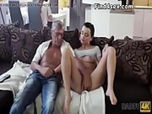 Massive Cumshot for Months Pregnant Gymnast in White Stockings