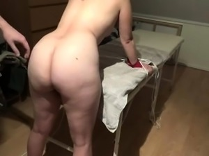 Kinky mature housewife with a magnificent ass gets spanked