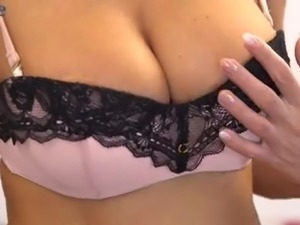 Tender pussy fingering is never too late for charming busty Liya Lucky