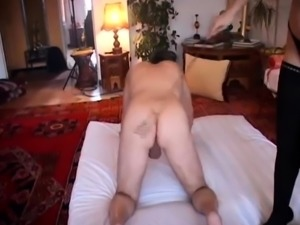 Kinky amateur lovers enjoying an intense bisexual foursome