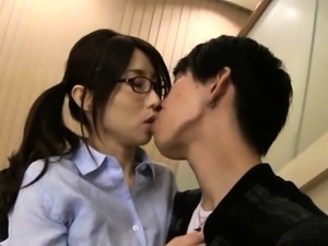 Japanese hotty gets her wonderful large tits cunt played